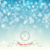 New Year snowflake retro background vector Royalty Free Stock Photos