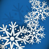 New Year snowflakes  background Stock Photo