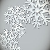 New Year snowflakes  background Stock Images