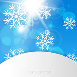 New Year snowflakes background Royalty Free Stock Image