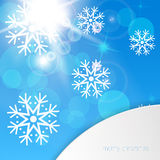 New Year snowflakes background Royalty Free Stock Photo