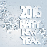 2016 new year. Snowflakes background with Happy new year. Design for card, banner, invitation, leaflet and so on Stock Images