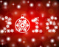 New Year 2016 with snowflakes on a red background Stock Photo