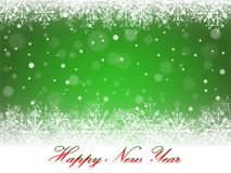 New Year snowflakes and snowdrift. New Year snowflakes and snowdrift on green background. Vector illustration Royalty Free Stock Image