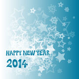 New Year 2014. With snowflakes and stars illustration vector illustration
