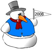New Year Snowman Royalty Free Stock Photography