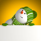 New year snowman greeting banner Royalty Free Stock Photos