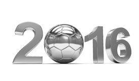 New Year 2016 and soccer ball Royalty Free Stock Images