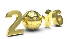 New Year 2016 and soccer ball Stock Photos