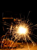 New Year sparkler Royalty Free Stock Photos