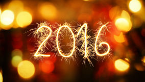2016 new year sparkler greeting Royalty Free Stock Photo