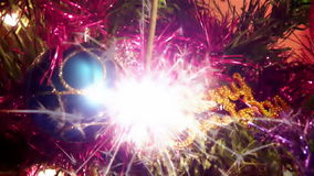 New Year sparks stock video footage