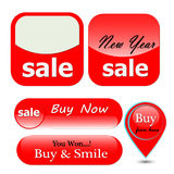 New year special offer sale tag Royalty Free Stock Image