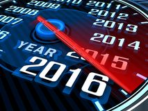 New year speedometer Royalty Free Stock Image