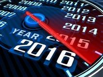 New year speedometer Royalty Free Stock Image