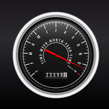 New Year Speedometer on black Stock Photography