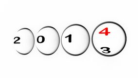 New year 2014 sphere Stock Image