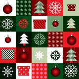 New Year squared pattern Stock Photography