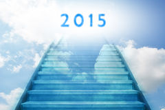New year 2015. Stairway going up to the new year 2015 vector illustration