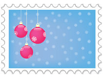 New year stamp. Illustration Royalty Free Stock Photos