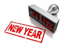 New year stamp Stock Image