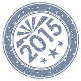 2015 new year stamp print Royalty Free Stock Image