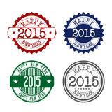 New Year 2015. Stamps graphics for the new 2015 - vintage Royalty Free Stock Photo