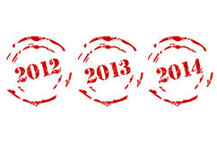 New Year Stamps Set. On white background Royalty Free Stock Photography