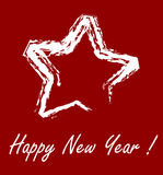 New year star. With red background Stock Image