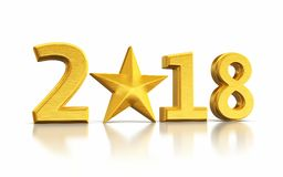 New Year 2017 and star gold Stock Image