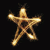 New year star. Isolated on black Royalty Free Stock Photography