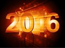 2016 New Year starburst. Landscape Background stock illustration