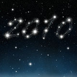The new year in stars Royalty Free Stock Image
