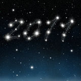 The new year in stars. An illustration of the new year 2011 written in the sky as a stars costellation Royalty Free Stock Photos