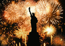 New Year Statue of Liberty Royalty Free Stock Image