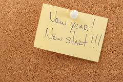 New year sticker on board Royalty Free Stock Photo