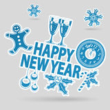 New Year Sticker Stock Images
