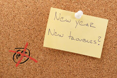 New year sticker new troubles Stock Photos