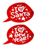 New year stickers. Stock Image