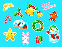 New Year stickers Stock Photos