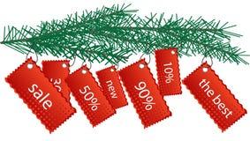New Year stickers Stock Photo
