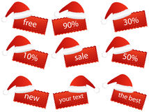 New Year stickers Stock Photography