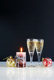 New Year still life. Against the black background Royalty Free Stock Photos