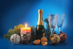 New Year still life Stock Photo