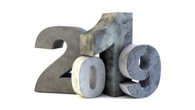 2019 new year stone stock photography