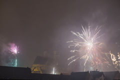 New year in Stralsund Royalty Free Stock Image