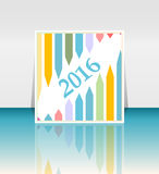 New year 2016 success concept with a growing arrows set Stock Photography