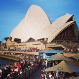 New year in Sydney. Opera house new year eve summer busy Royalty Free Stock Photos
