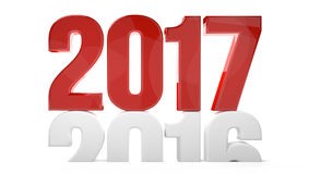 2017 2016 new year sylvester 3d render symbol. Illustration Royalty Free Stock Image