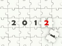 New year symbol. On puzzle Royalty Free Stock Photos